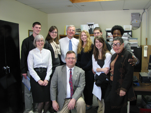 Assemblyman Thiele is pictured with members of the Southampton Town Youth Board, who recently met with him about their youth programs and services.