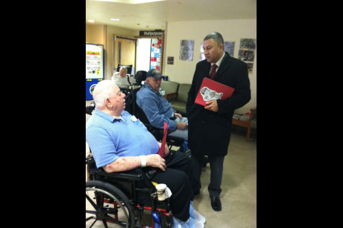 Assemblyman Phil Ramos delivered over 600 hand-made Valentine�s Day cards to veterans at the New York State Veterans� Home on Long Island.