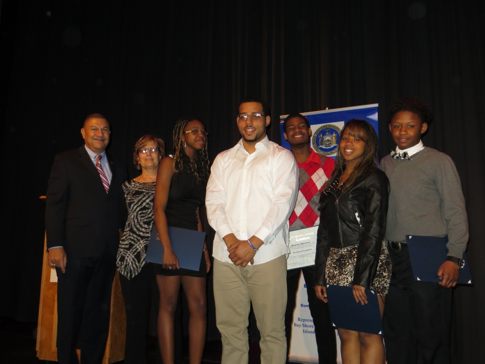 Students from the Brentwood, Bay Shore and Central Islip schools performed original poetry/spoken word for the crowd.