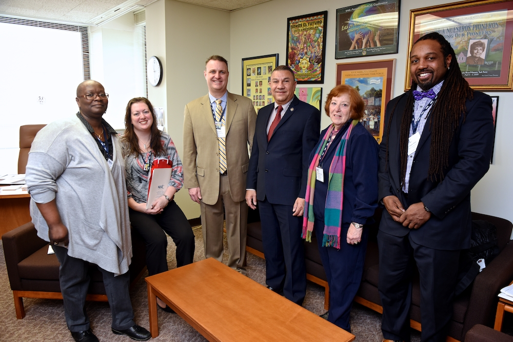 Assemblyman Ramos met with Kevin Coyne, President of the Brentwood Teachers� Assoc. and other members of the association during NYSET Day in Albany this past Tuesday.