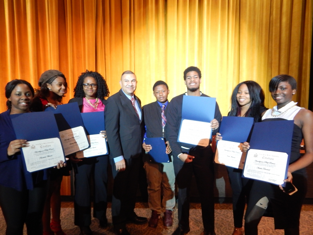 Assemblyman Phil Ramos was joined by the Herstory�s Writers Workshop and Central Islip Dynamic Dancers at the Brentwood South Middle School to commemorate the outstanding achievements of women at his