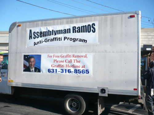 Assemblyman Ramos is fighting to give our communities a brighter, cleaner future by joining with the Urban league of Long Island to removal graffiti in the area. Call the graffiti removal hotline at 631-316-8565 or email my district office if you see graffiti in your neighborhood
