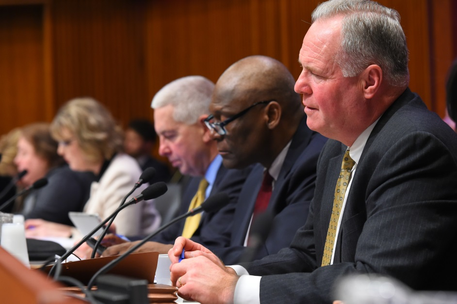 Assemblyman Michael Fitzpatrick (R,C,I-Smithtown) attended a joint legislative budget hearing on housing in the Legislative Office Building in Albany. Fitzpatrick said New York should focus on making