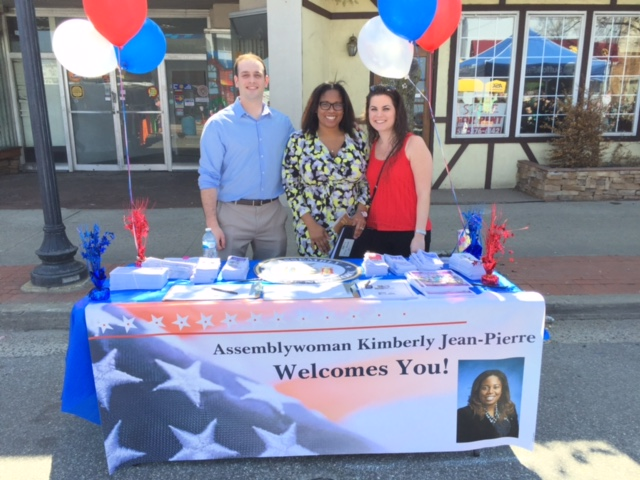 Assemblywoman Jean-Pierre attends Lindenhurst Chamber of Commerce's Springfest with her legislative staff