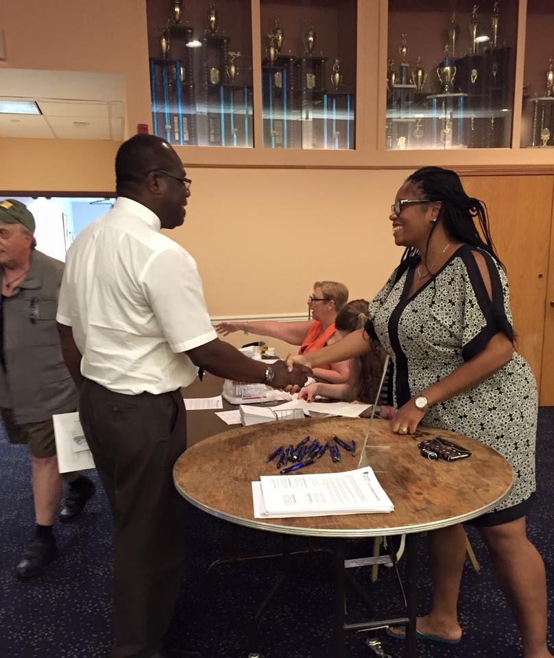 Assemblywoman KJP's meets with a constituent at her Annual Prostate Screening