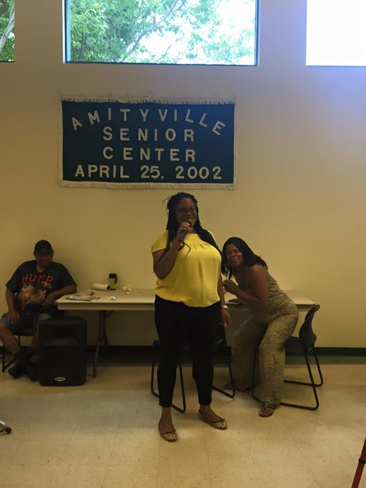 Assemblywoman KJP visits Amityville Senior Center