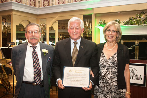 Charles Lavine had a wonderful time at the Glen Cove SAGE Foundation�s Dinner and Auction with this year�s honorees Barbara and Dr. Michael Dubin.  The Glen Cove SAGE Foundation has grown into a vibrant and integral organization and works hard to ensure that the Glen Cove Senior Center continues to uphold the high standard with which it serves our community.  Photo credit: Geri Reichgut.