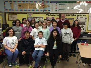 Assemblyman Dave McDonough is joined by Mrs. Cain�s sixth grade class at Chatterton Elementary School.