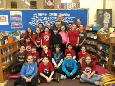 Assemblyman Dave McDonough read �As Good As Anybody� as part of the PARP Olympics at Norman J. Levy Lakeside Elementary School.