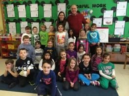 Assemblyman Dave McDonough with Mrs. Kinderman�s first grade class.