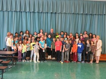 Assemblyman Dave McDonough and the fifth grade class at Dinklemeyer Elementary School.