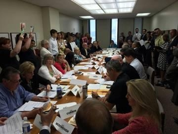 The Assembly Education Committee meeting voting down Common Core reform.