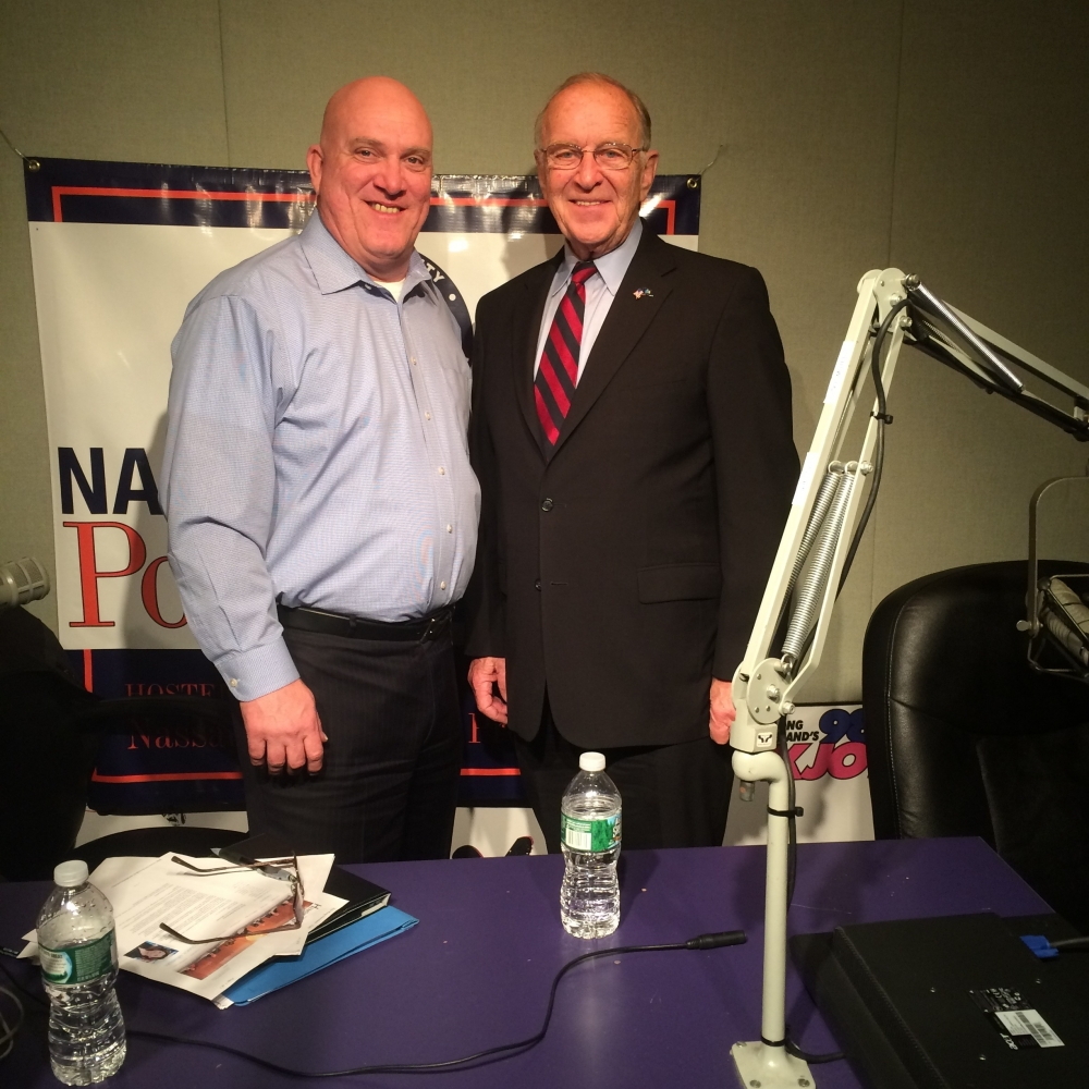 I recently was a guest of police officer James Carver, President of the Nassau County Police Benevolent Association, on his WHLI 1100AM radio show. We discussed the police force and public protection in Nassau County.