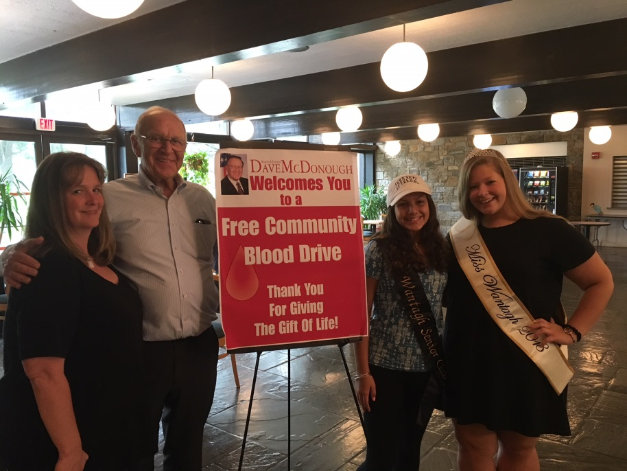 From left to right: Rosemary Bailey, Assemblyman Dave McDonough, Angela Maciak and Miss Wantagh 2018 Ashley Bailey.