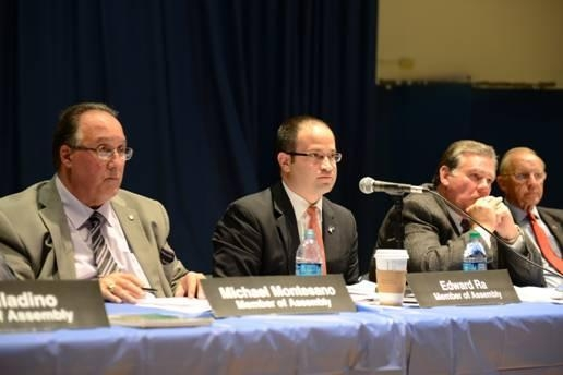 Assemblyman Michael Montesano, Assemblyman Ed Ra, Assemblyman Al Graf and Assemblyman David McDonough during their October 24 public forum on New York�s Common Core curriculum and standards.