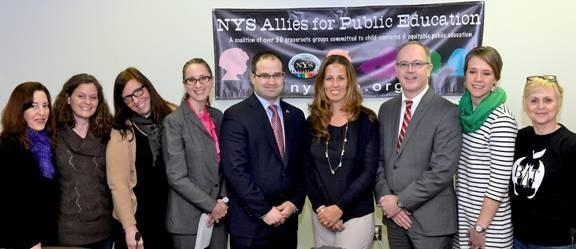 Assemblyman Ed Ra with members of NYS Allies for Public Education (NYSAPE) at a recent informational forum held in Albany.