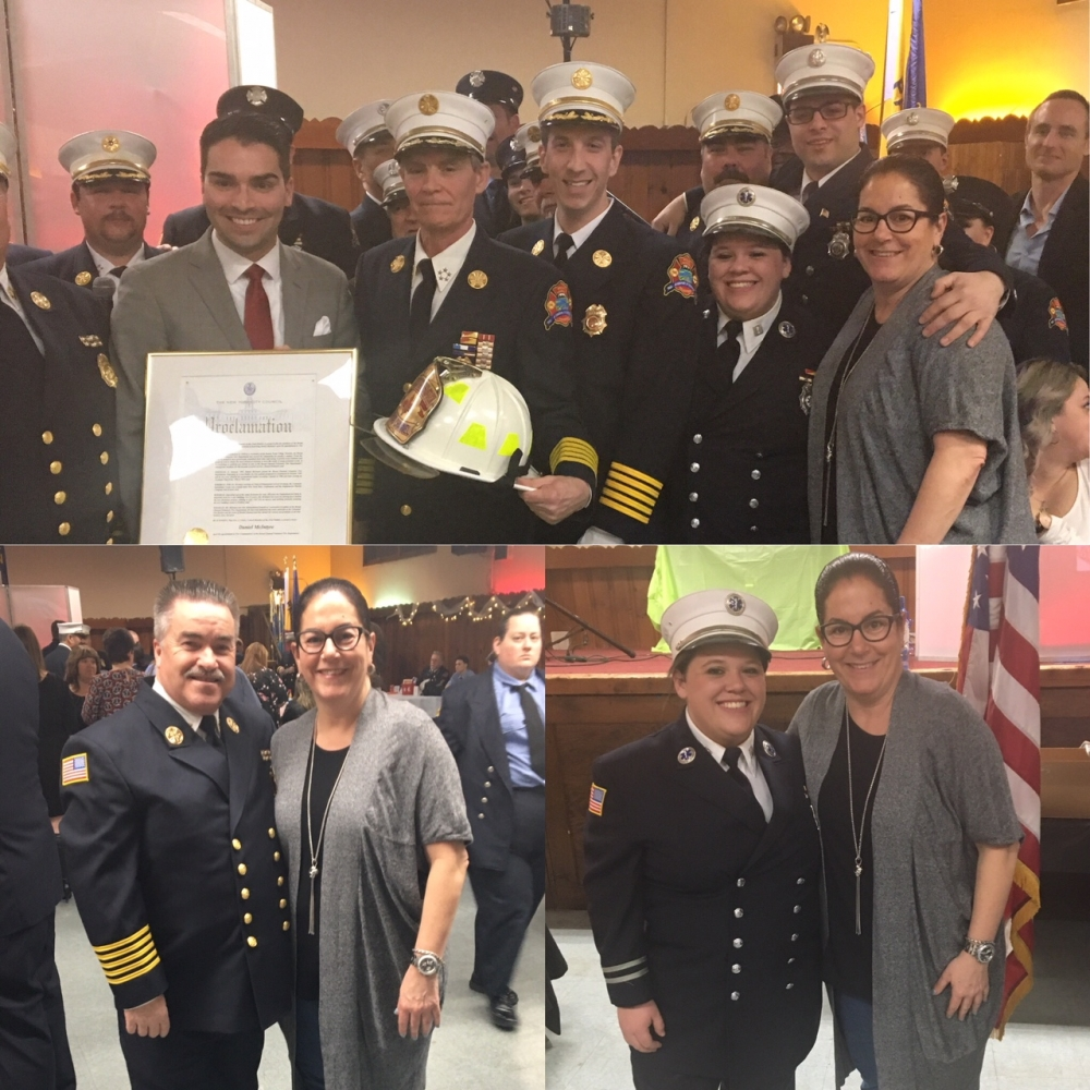 Assemblywoman Stacey Pheffer Amato (D-Broad Channel) attended the Broad Channel Volunteer Fire Department & Ambulance Corp. Officer 113th Installation Dance.