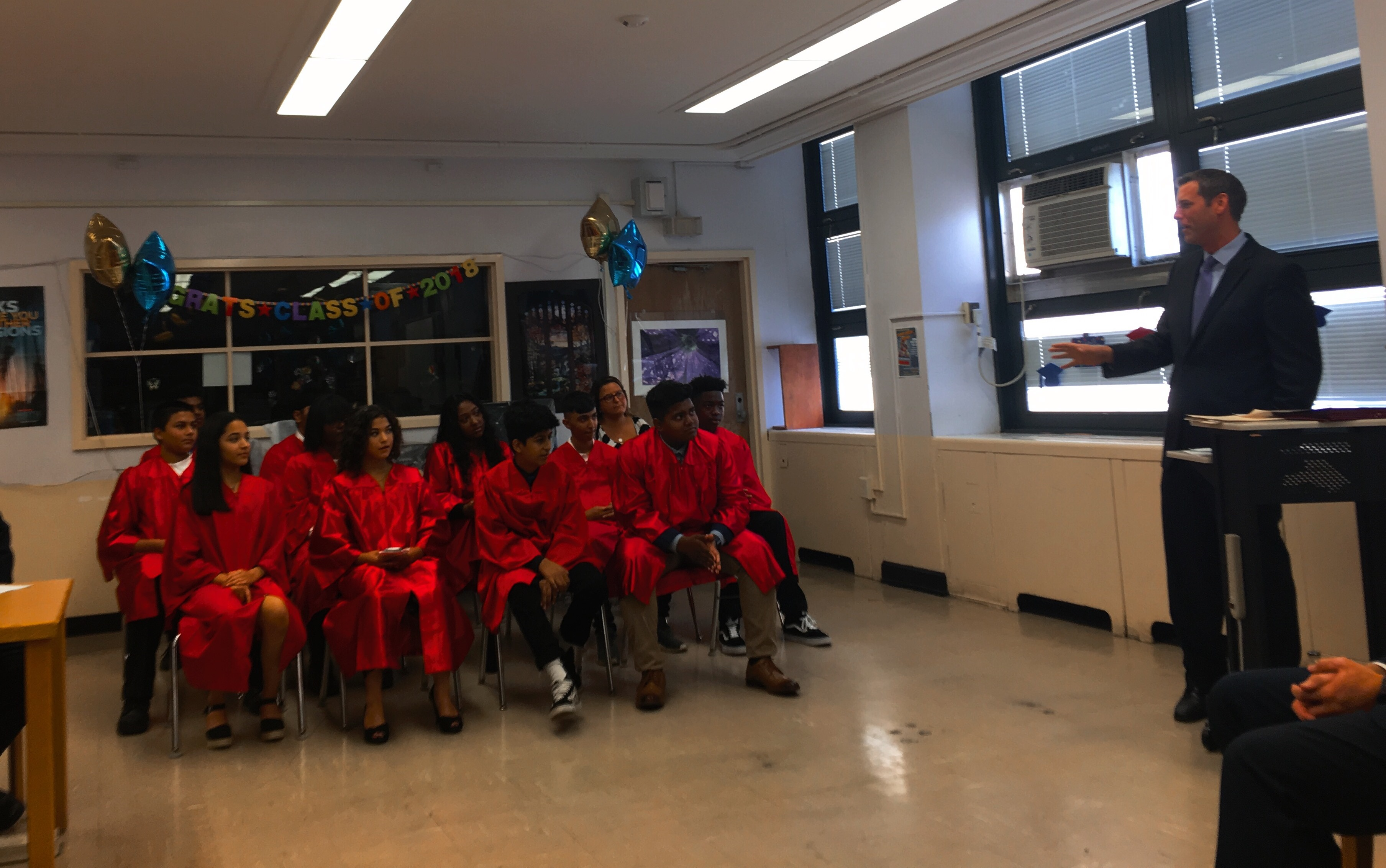 On August 10, 2018, Assemblyman Braunstein attended the Summer in the City graduation program at MS 158.