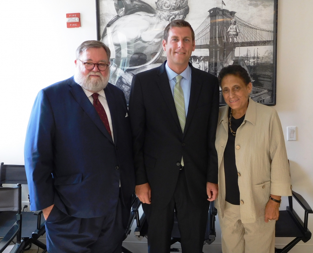 Assemblyman Braunstein met with Larry Cary, President and Elizabeth A. Sciabarra, Executive Director, of the Brooklyn Tech Alumni Foundation to discuss the Specialized High School Admissions Test.
