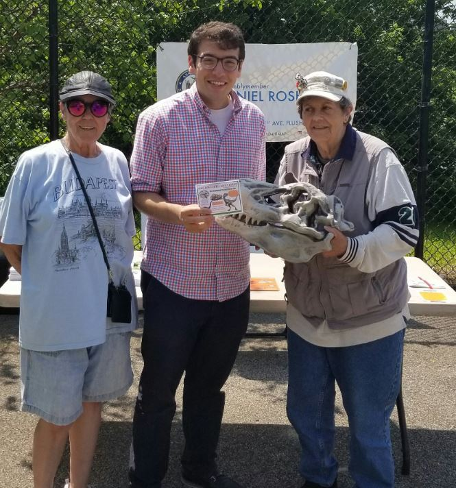 Assemblymember Rosenthal enjoys the weather at Monroe Park's Family Park Day.