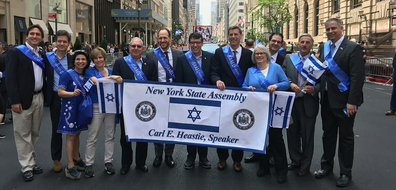 Assemblymember Rosenthal joins friends and colleagues to celebrate the NYC Israeli Day Parade.