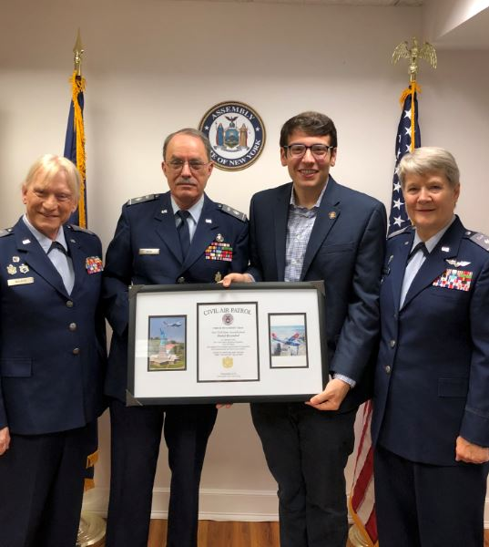 Assemblymember Rosenthal receives his commission as Major in the United States Civil Air Patrol. The Assemblymember joins 60,000 volunteers that selflessly dedicate their time to keep our homeland saf