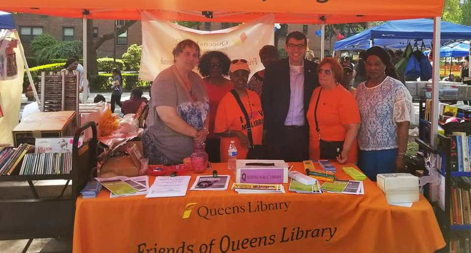 Assemblymember Rosenthal attends the Electchester Street Fair.