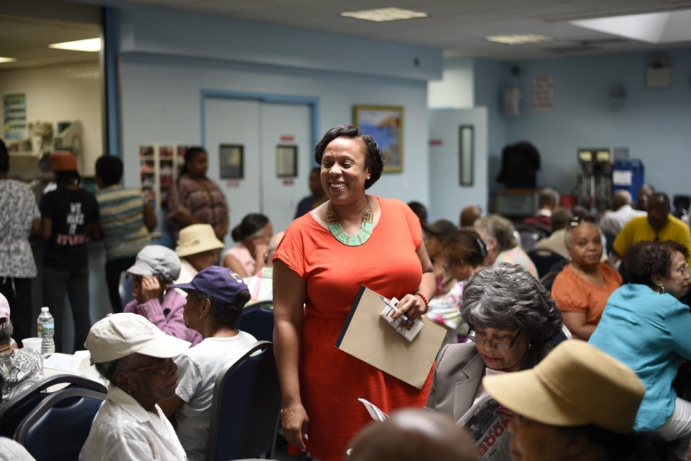 Assemblywoman Hyndman at Alpha Phi Alpha Senior Center