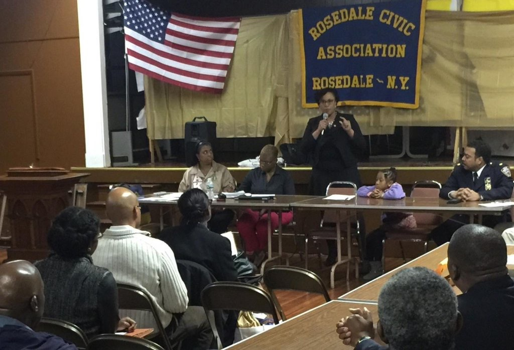 Assemblywoman Hyndman updating Rosedale Civic on the Budget