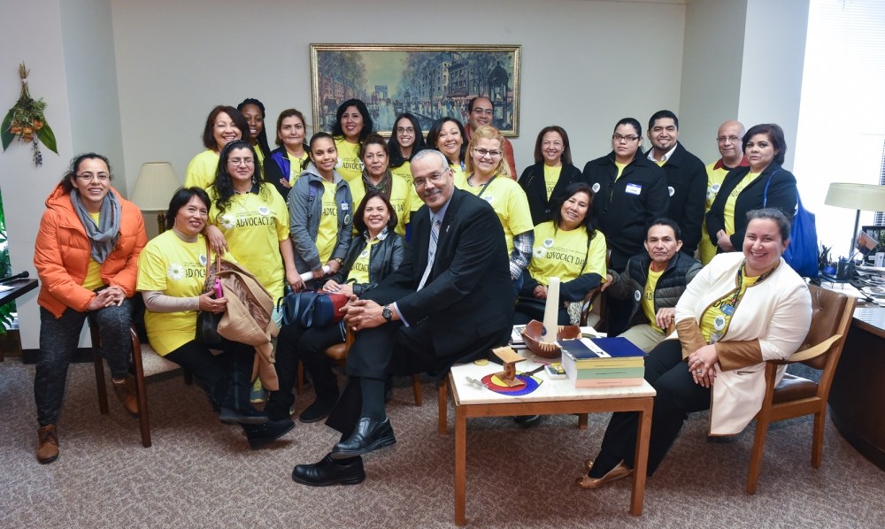 Representatives from Plaza del Sol come to Albany on Lobby Day.<br />
