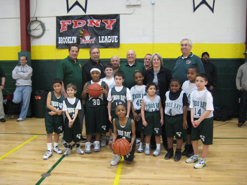 Assemblywoman Helene Weinstein and Kings Bay Youth Organization (KBYO) President Louis Spina joined the KBYO Basketball Division Coaches and players in celebrating much needed renovations at the KYBO on Coyle Street. The renovations were made possible through a $72,000 state grant directed by Assemblywoman Weinstein.