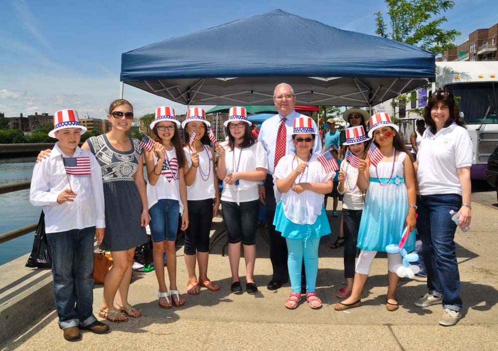 Assemblyman Steven Cymbrowitz welcomed musicians from Public School 255, who performed patriotic tunes during his 11th Annual Lena Cymbrowitz Community Health Fair.