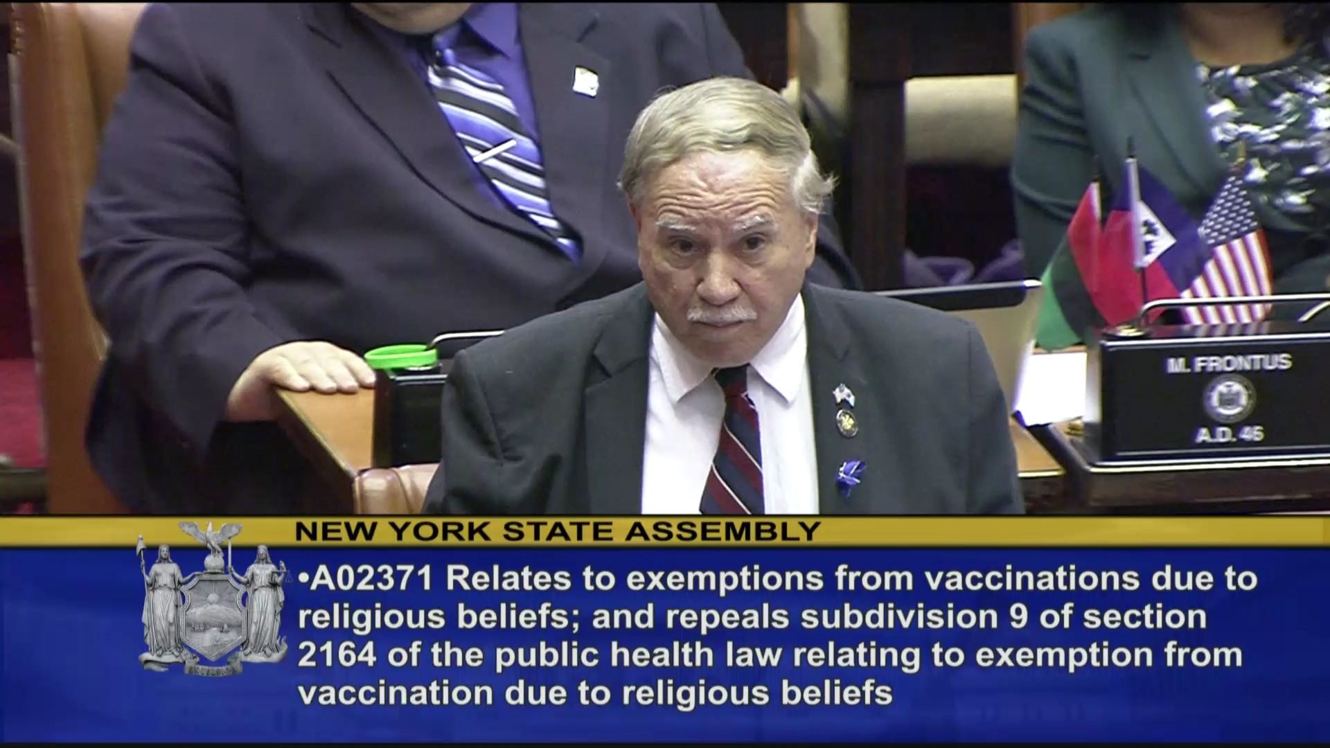 Colton Speaks Against Removing Religious Vaccination Exemptions