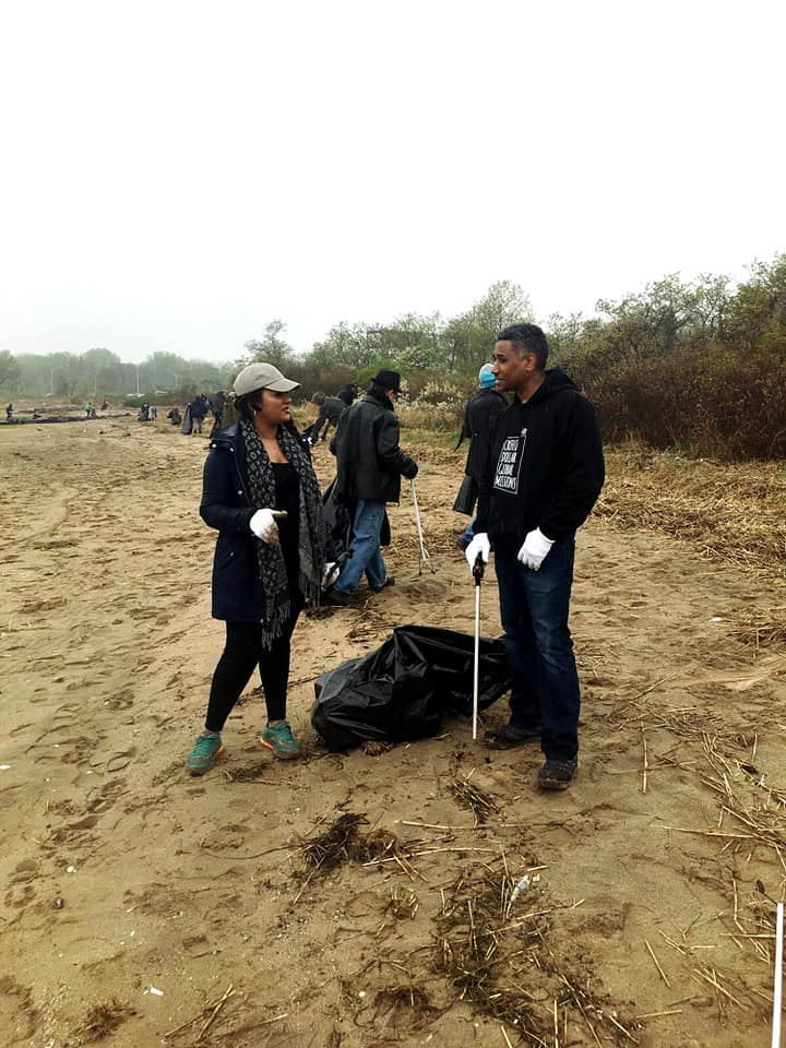 Canarsie Pier clean up in partnership with the Jamaica Bay Rockaway Parks Conservancy and National Park Service.