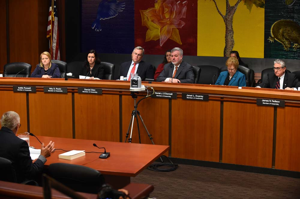 Corrections Committee Chair O'Donnell hosts a Corrections hearing in December 2015. This hearing led him to introduce a bill to create the Office of the Correctional Ombudsman to provide independent,
