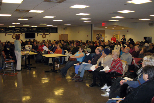 District residents attend an informational meeting on Medicare and programs for seniors. O�Donnell hosts regular community events including Quality of Life Forums, Health Service Days, and Legal Clinics for Tenants.