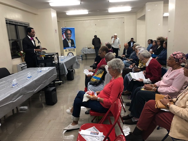 "On October 18, 2018, Assemblymember Taylor held a community discussion at River Terrace Apartments concerning such issues as DOT's proposed ""Safety City"" initiative, rude and unprofessi"