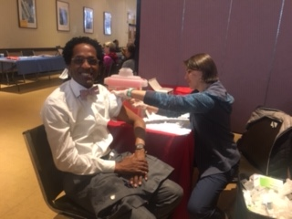 On October 24, 2018, Assemblymember Al Taylor received his free flu vaccination as part of an event were at the Hebrew Tabernacle located at 551 Fort Washington Avenue in collaboration with Columbia-P