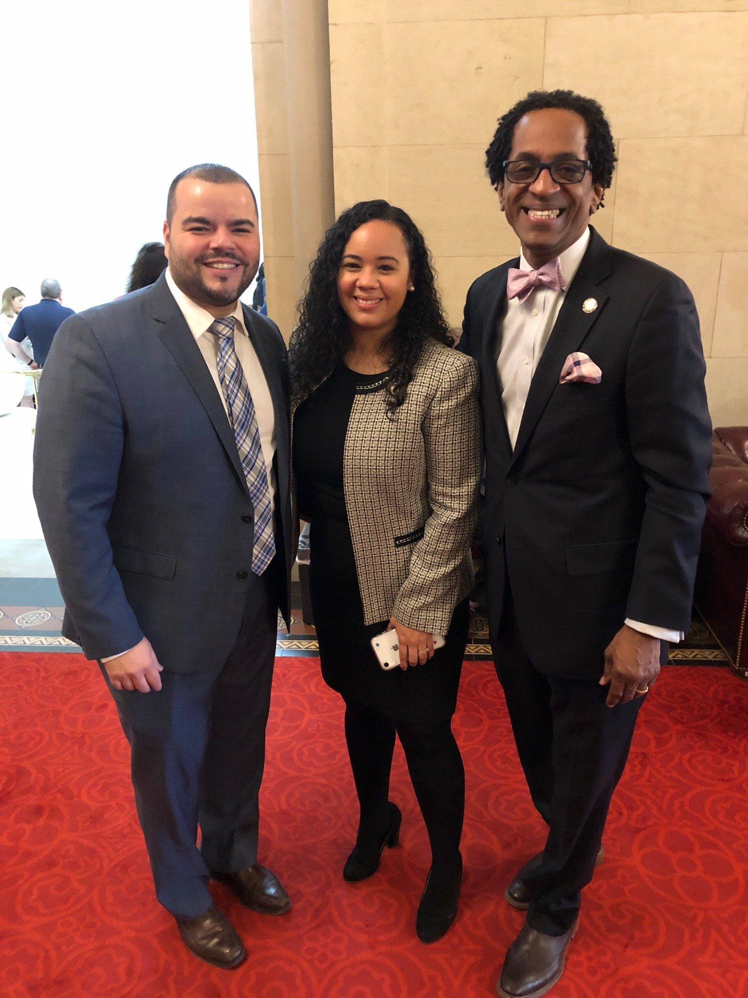 On January 23, 2019, Assemblymember Al Taylor helped to pass the Jose Peralta New York State DREAM Act with Assemblymember Carmen de la Rosa and Assemblymember Marcos Crespo.