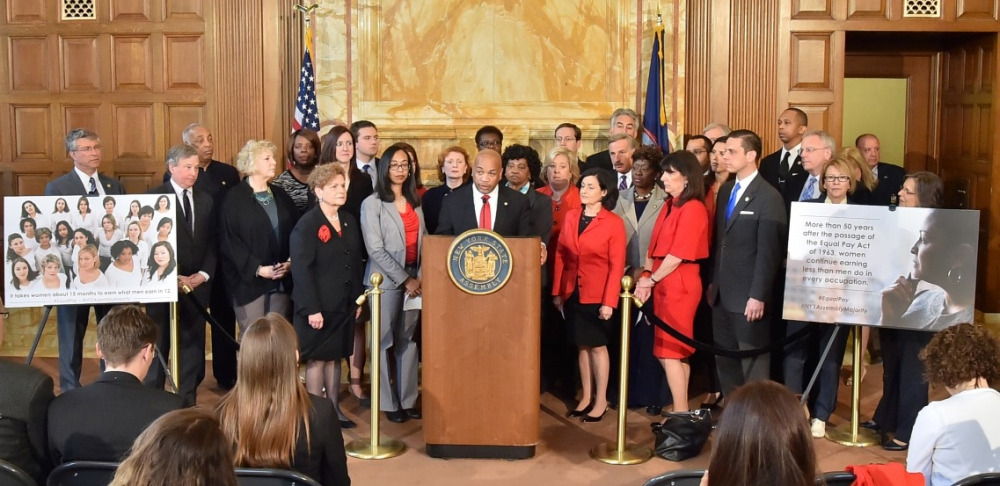 April 27, 2015—Albany--Press conference for the passage of the Equal Pay Bill.