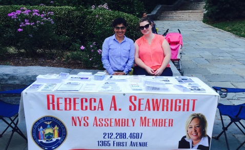 National Night Out, August 4, 2015---Carl Schurz Park, NYC---Assembly Member Seawright's constituent services team.