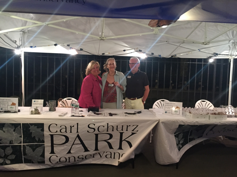 Sunset Film Festival, August 19, 2015---Carl Schurz Park, NYC--- Assembly Member Seawright stands with Director of Events Ann Meschery and Executive Director David Williams.