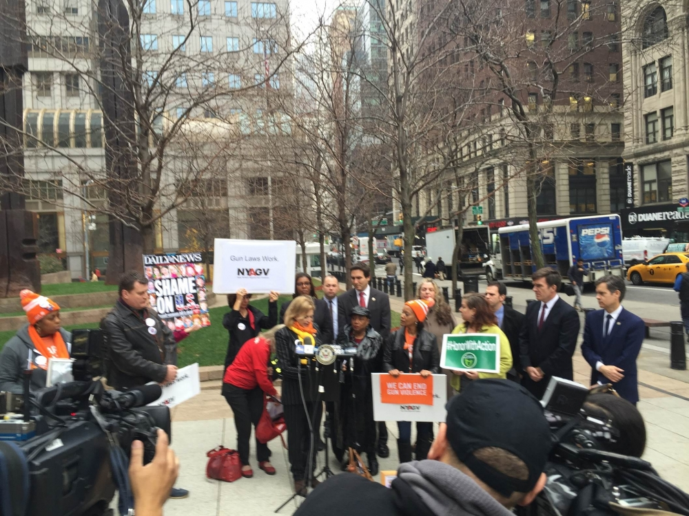 We stand with Congresswoman Maloney and colleagues in strongest support of ending once and for all the politics of delay of sensible gun control at the national level.  Delay of passage has only meant death to innocent people.  As we continue to mourn the slain students and teachers of Sandy Hook and all Americans who are victims of this blight on our society, we must renew our collective efforts to obtain these needed reforms.""