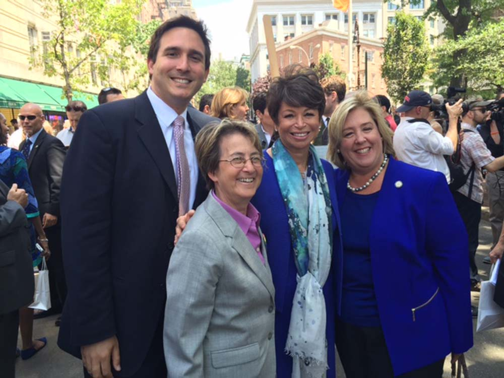 I had the pleasure of joining U.S. Secretary of the Interior Sally Jewell, Senior Advisor to the President of the United States Valerie Jarrett, National Park Director Jon Jarvis, Managing Director at the White House Council of Environmental Quality Christy Goldfuss, and other elected officials and LGBT leaders to celebrate the designation of the Stonewall National Monument, the first national monument that honors the history of the Lesbian, Gay, Bisexual and Transgender (LGBT) community in the United States.