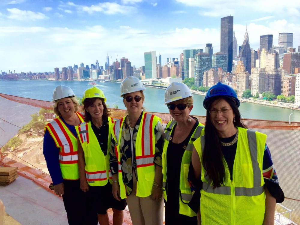 On Wednesday, July 13, FDR Four Freedoms Park President/CEO Sally Minard took New York's Lieutenant Governor Kathy Hochul, State Assembly Member Rebecca Seawright and Manhattan Borough President Gale A. Brewer on a tour.<br />