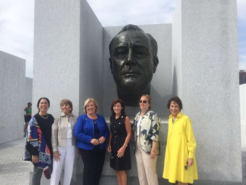 "Assembly Member Seawright took a practical view of Hochul's visit and said, ""She saw first-hand the need for workforce development, infrastructure support as economic activity increases on the island.""  Also noting, ""As we walked by the iconic statue by Jo Davidson that stands in the spirit of the four freedoms, we discussed the great legacy of Roosevelt Island and the importance of our community to the city and the state.""<br />"