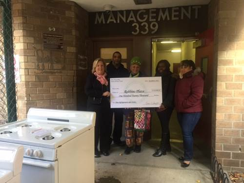 Robbins Plaza tenants are getting brand new refrigerators and stoves as a part of Assembly Member Rebecca Seawright's funding allocation. Specifically, 105 refrigerators and 102 stoves, total cost $120,000, are being delivered through Monday, December 12.<br />