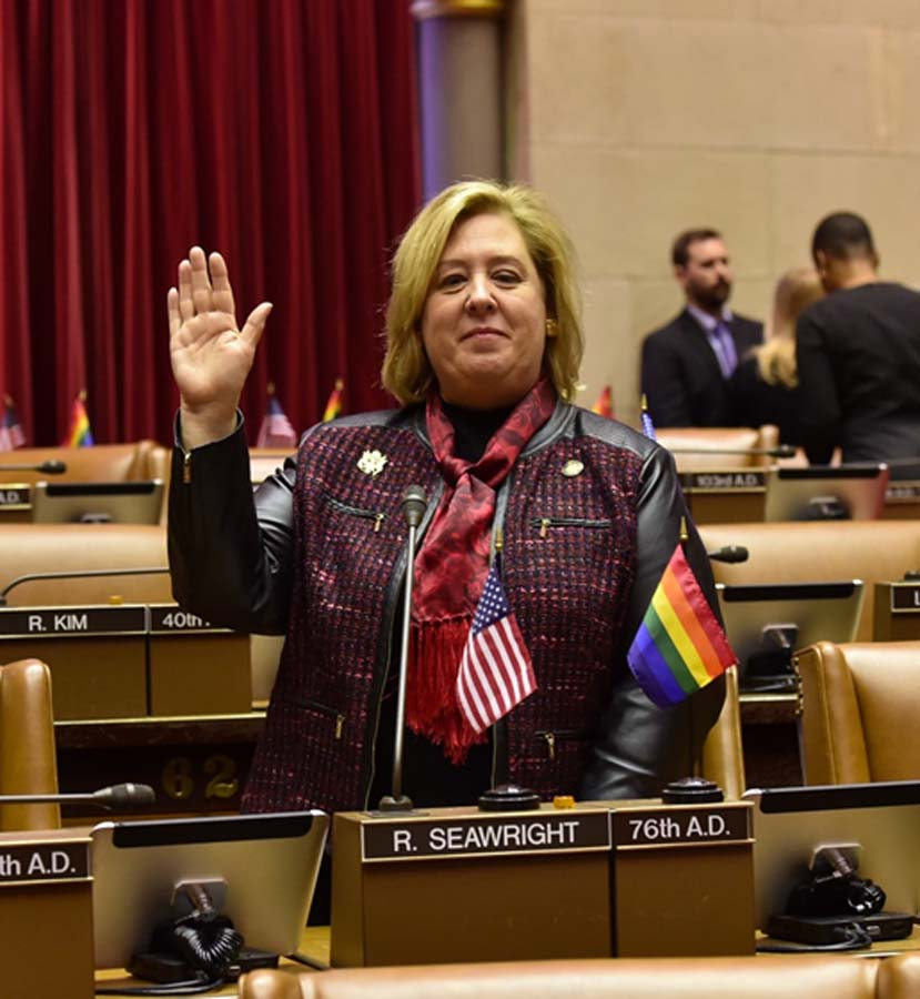 Jan. 2017-Seawright sworn in to her second term.<br />