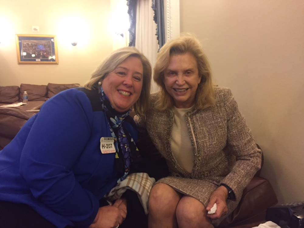 Jan. 2017--Assembly Member Seawright meets with Congresswoman Carolyn Maloney in her office at the U.S. Capitol.<br />