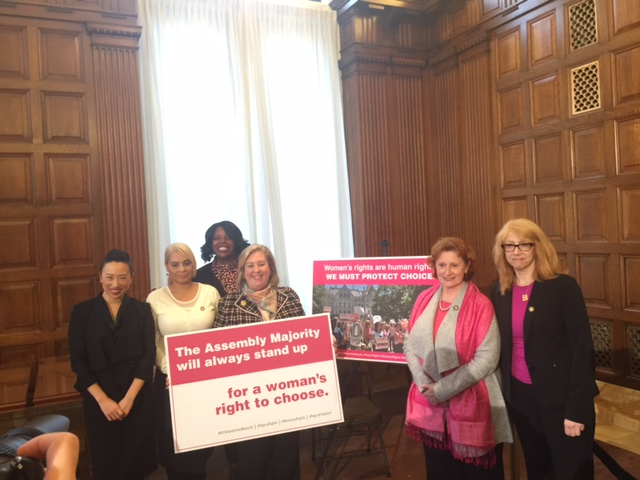 "Seawright with her Assembly colleagues at the State Capitol. Assembly passes bill to amend the public health law in relation to reproductive services (<a href=""/leg/?bn=A1748&term=2017"" target=""blank"">A1748</a>) and Comprehensive Contraceptive Coverage (<a href=""/leg/?bn=A1378&term=2017"" target=""blank"">A1378</a>)<br />"